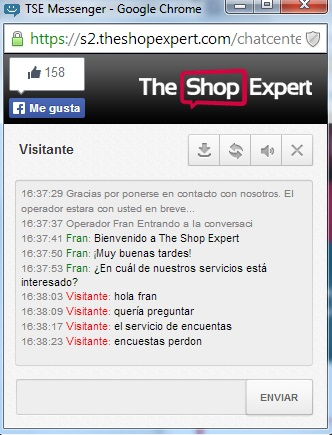 A small screenshot of the online chat, where you can see the platform that is integrated in your store. We have tested it, and conversation is easy and fluent.