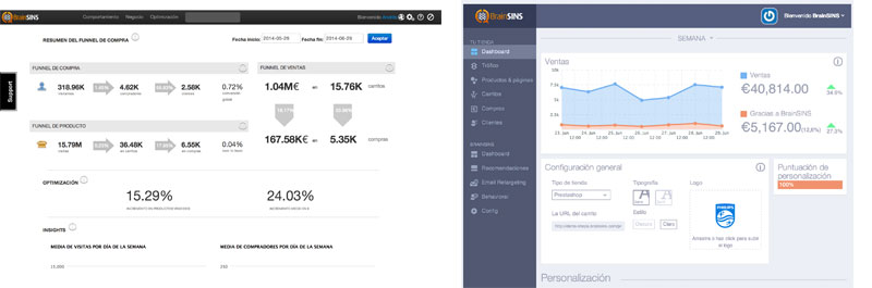 The 3.0 version of BrainSINS involves significant aesthetic and usability changes. As can be seen in this comparison, the main dashboard becomes much more functional, usable, and visually appealing.